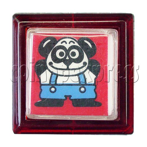33mm Square Push Button with Cartoon 13105