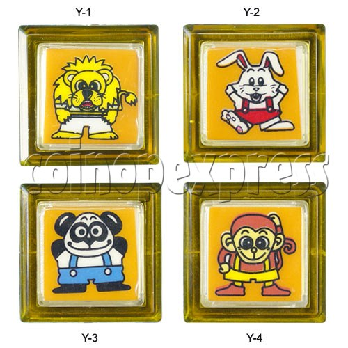33mm Square Push Button with Cartoon 13108