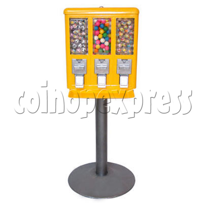 Triple Head Candy Vending Machine with Iron Stand 14258