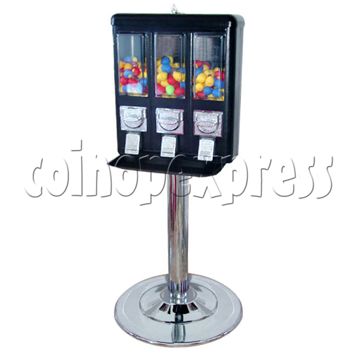 Triple Head Candy Vending Machine With Steel Stand 14257