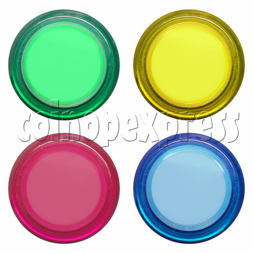 33mm Round Illuminated Push Button - Color Body with Color Top 17667