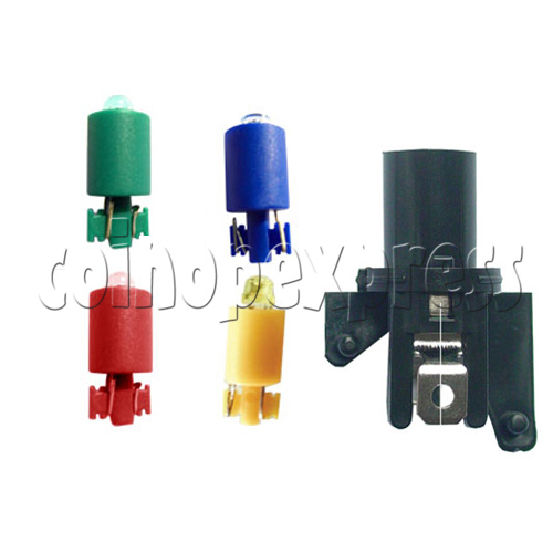 33mm Round Illuminated Push Button - Color Body with Color Top 19028