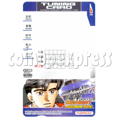 Memory Card for Wangan Midnight Maximum Tune 3 19587
