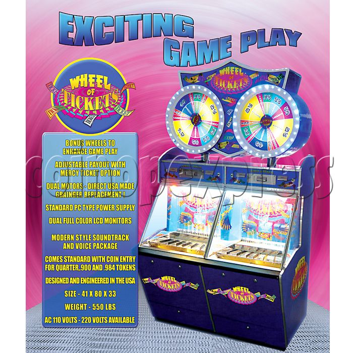Wheel of Ticket Coin Pusher 20662