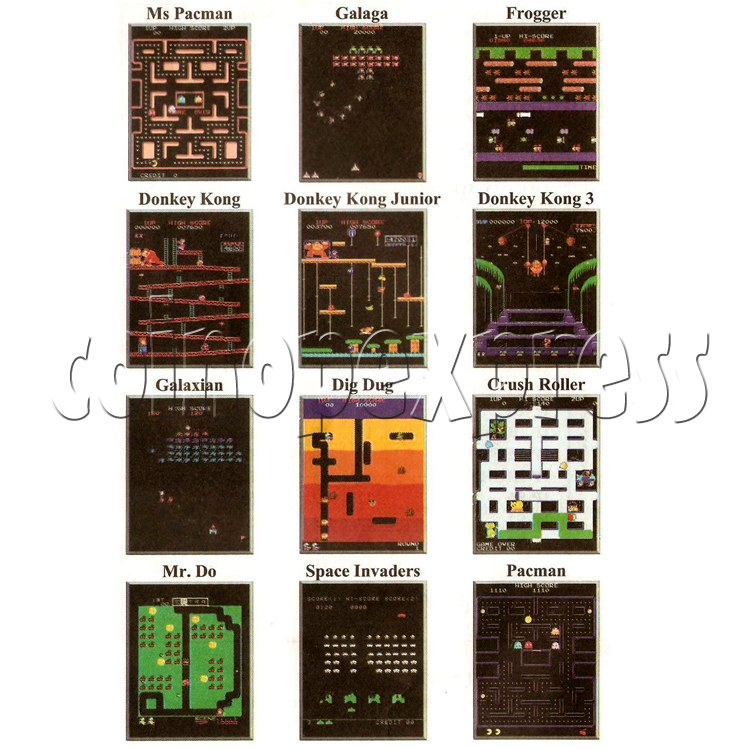 48 in 1 Multi Arcade Game Board game list-1