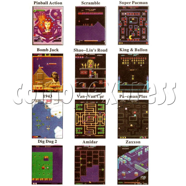 48 in 1 Multi Arcade Game Board game list-4