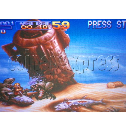 16 in 1 Arcade game cartridge  MVS 8 - Game Play - 2