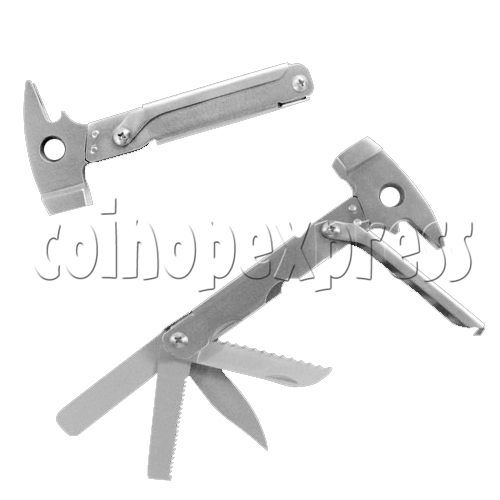 Multi Function Folding Tool With Claw Hammer and Knife 23923