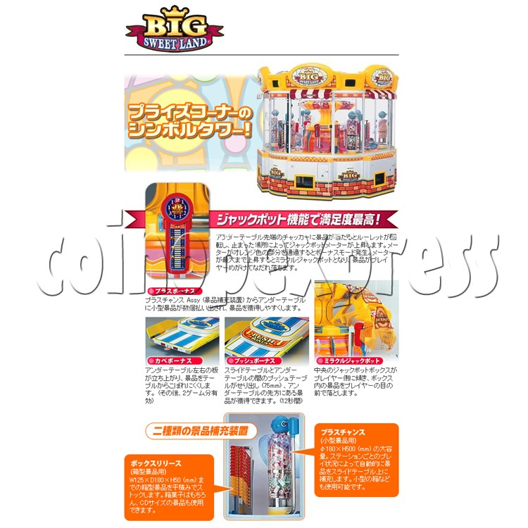 Big Sweet Land With Cooler Prize Machine 25321