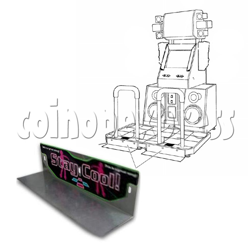 DDR Stage Metal Supporter 25238
