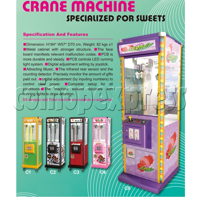 Taiwan candy crane machine: 22 inch Knight Age 27554