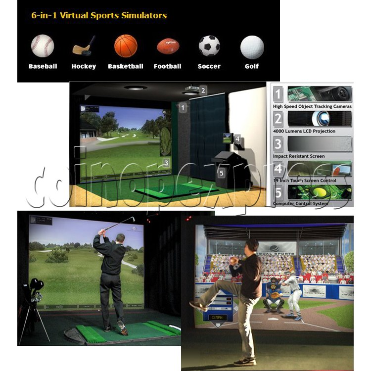 Visual Sports Simulators (6 in 1) 29095
