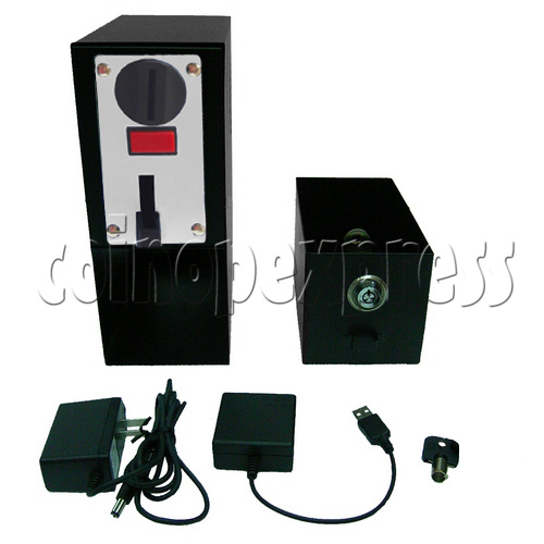 Coin-operated Heavy-duty Metal box with USB control (3 type coins) 29225