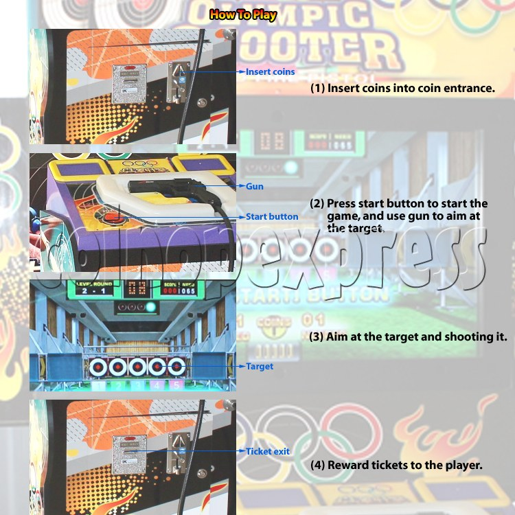 Olympic Shooting Arcade Machine 30989